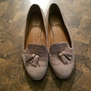 Tan Suede Leather Tassle Loafers DV Dolce Vita